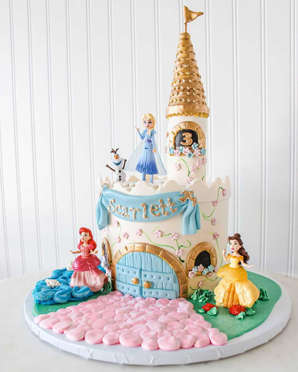 Amazon Com Gold Glitter Sofia Cake Topper Disney Princess Sofia Inspired Cake Topper Sofia The First Theme Birthday Party Suppliers Girls Princess Party Favor Toys Games