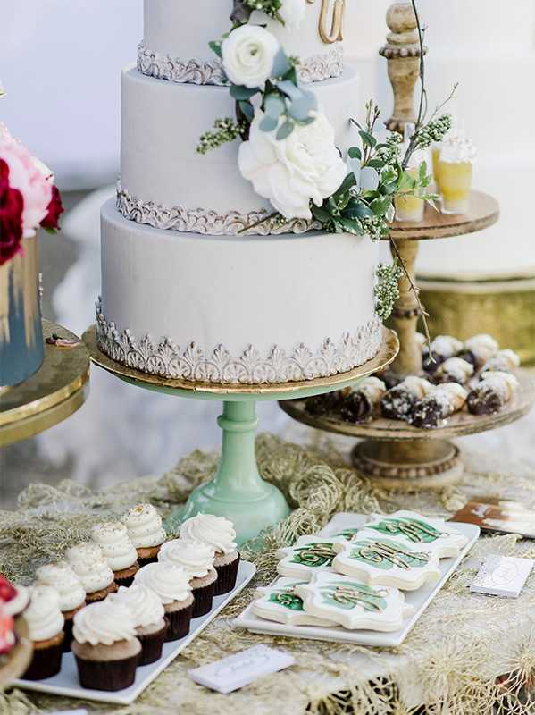 spring themed wedding cake dessert